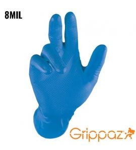 Rękawiczki nitrylowe niebieskie grube s